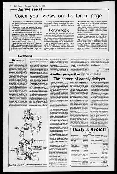 Daily Trojan, Vol. 68, No. 7, September 25, 1975