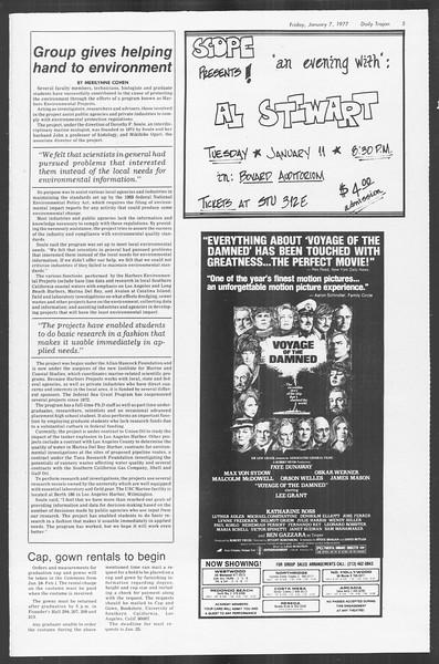 Daily Trojan, Vol. 70, No. 59, January 07, 1977