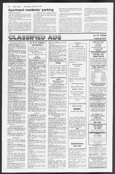 Daily Trojan, Vol. 71, No. 43, April 20, 1977