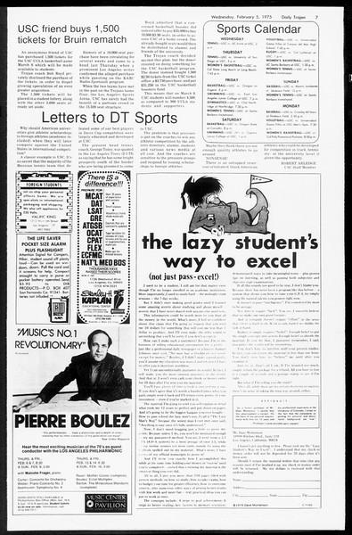 Daily Trojan, Vol. 67, No. 67, February 05, 1975