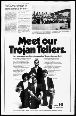 Daily Trojan, Vol. 67, No. 3, September 18, 1974