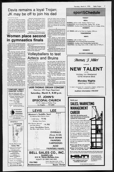 Daily Trojan, Vol. 68, No. 86, March 04, 1976