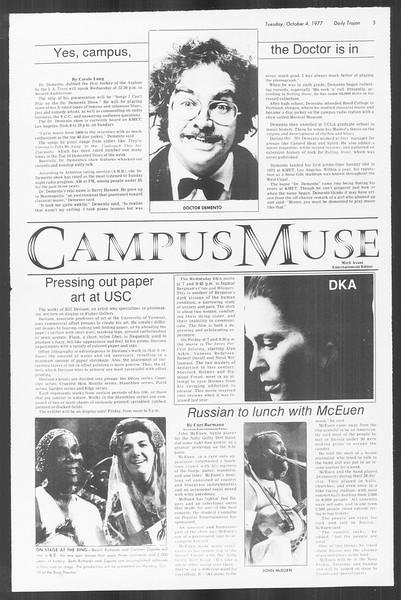 Daily Trojan, Vol. 72, No. 12, October 04, 1977