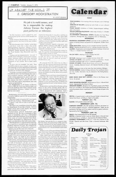 Daily Trojan, Vol. 67, No. 62, January 07, 1975