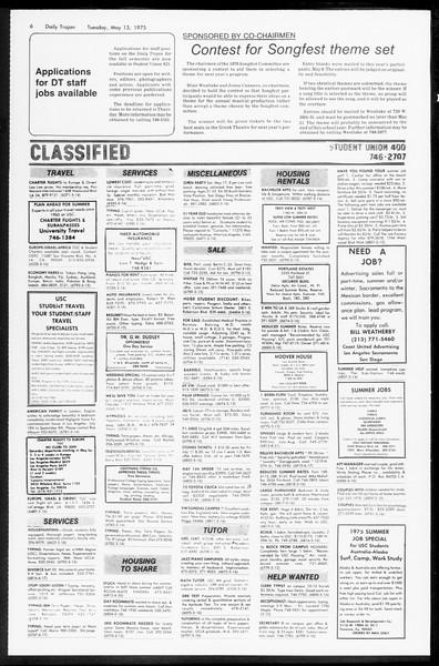 Daily Trojan, Vol. 67, No. 127, May 13, 1975