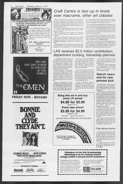 Daily Trojan, Vol. 71, No. 2, February 09, 1977
