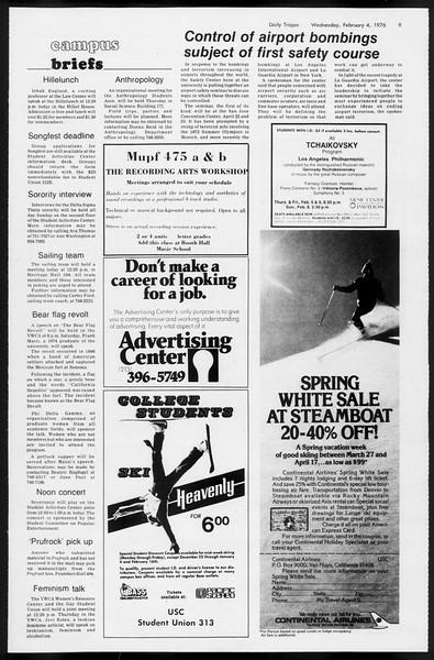 Daily Trojan, Vol. 68, No. 67, February 04, 1976