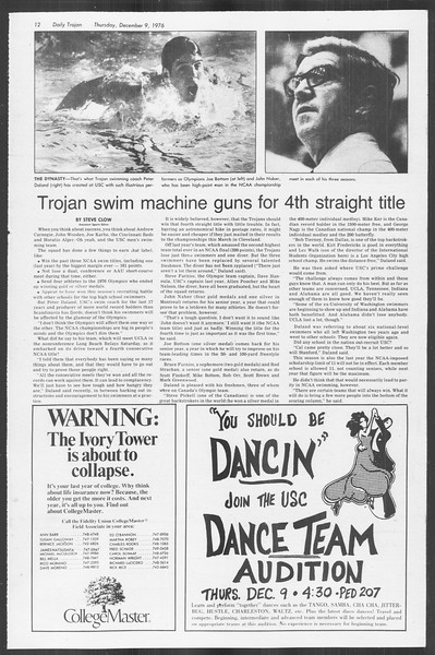 Daily Trojan, Vol. 70, No. 51, December 09, 1976