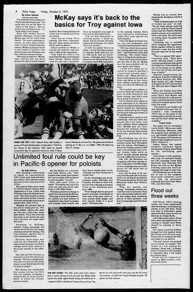 Daily Trojan, Vol. 68, No. 14, October 03, 1975