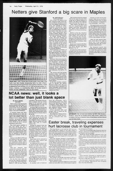 Daily Trojan, Vol. 68, No. 113, April 21, 1976