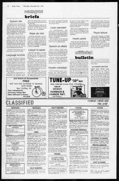 Daily Trojan, Vol. 68, No. 45, November 20, 1975