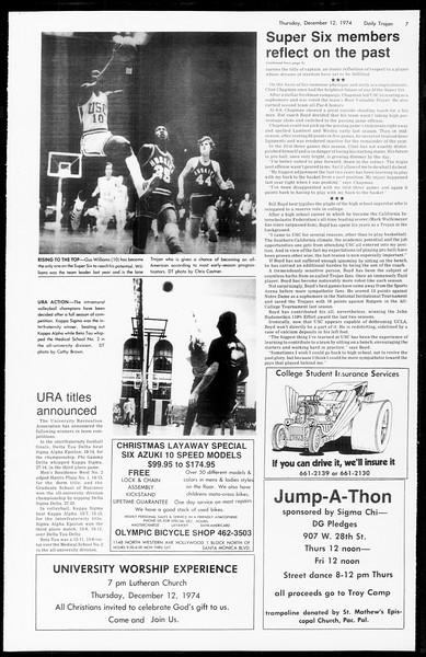 Daily Trojan, Vol. 67, No. 57, December 12, 1974