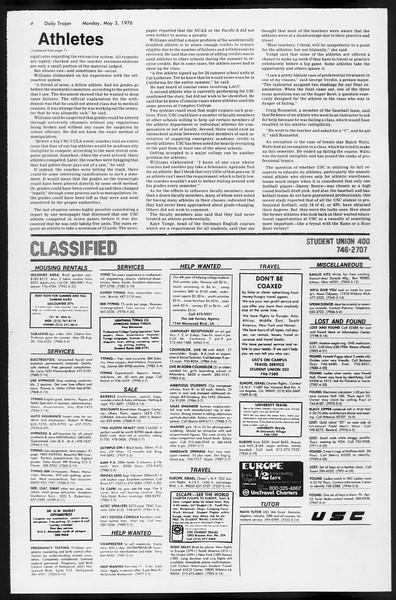 Daily Trojan, Vol. 68, No. 121, May 03, 1976