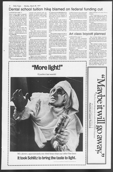 Daily Trojan, Vol. 71, No. 33, March 28, 1977