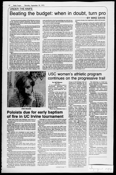 Daily Trojan, Vol. 68, No. 3, September 18, 1975