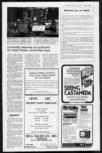 Daily Trojan, Vol. 68, No. 73, February 12, 1976