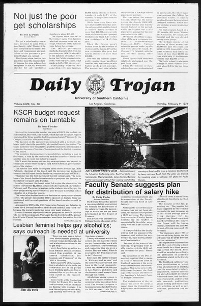 Daily Trojan, Vol. 68, No. 70, February 09, 1976