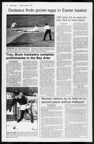 Daily Trojan, Vol. 68, No. 112, April 20, 1976