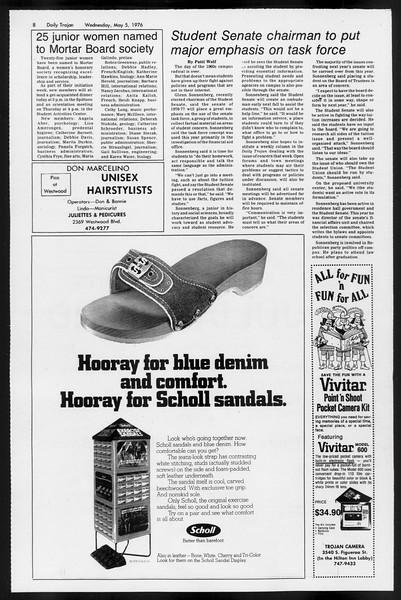 Daily Trojan, Vol. 68, No. 123, May 05, 1976
