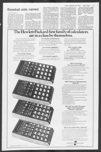 Daily Trojan, Vol. 70, No. 5, September 24, 1976