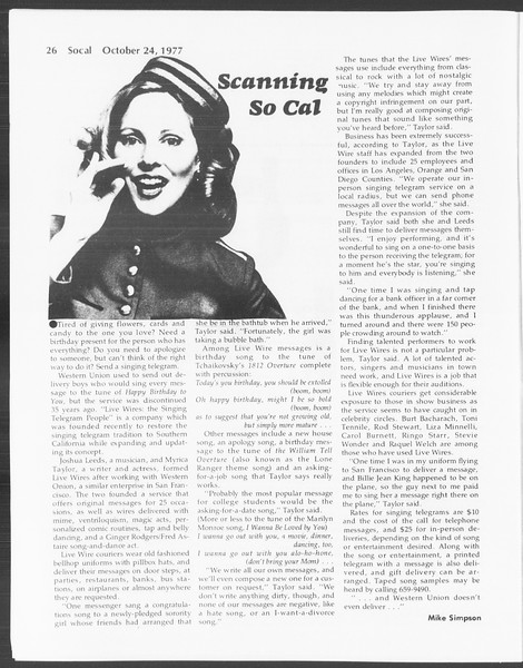 SoCal, Vol. 72, No. 25, October 24, 1977