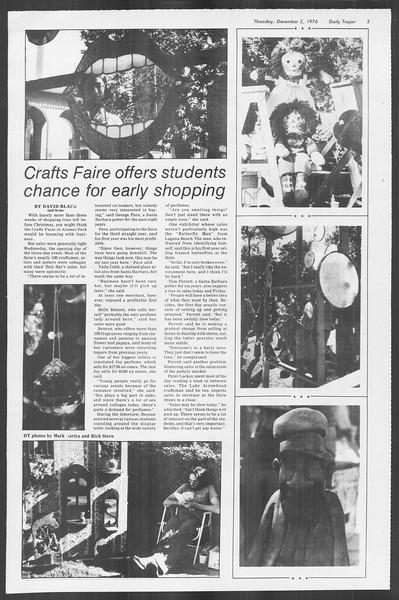 Daily Trojan, Vol. 70, No. 46, December 02, 1976