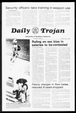 Daily Trojan, Vol. 67, No. 97, April 01, 1975