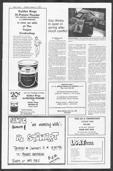 Daily Trojan, Vol. 70, No. 61, January 11, 1977