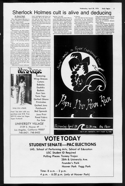 Daily Trojan, Vol. 68, No. 118, April 28, 1976