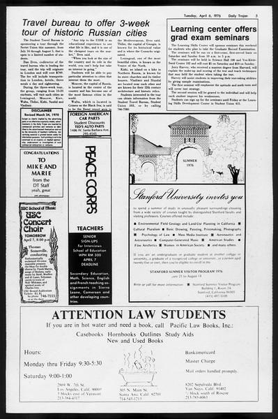 Daily Trojan, Vol. 68, No. 109, April 06, 1976