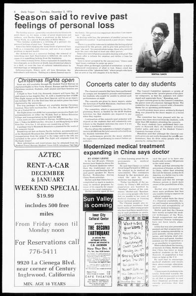 Daily Trojan, Vol. 67, No. 52, December 05, 1974