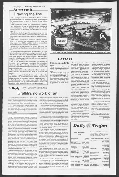 Daily Trojan, Vol. 70, No. 17, October 13, 1976