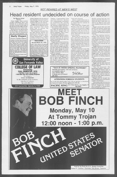 Daily Trojan, Vol. 68, No. 125, May 07, 1976
