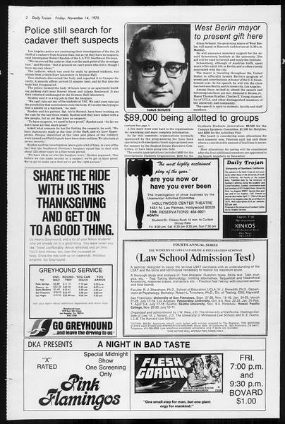 Daily Trojan, Vol. 68, No. 41, November 14, 1975