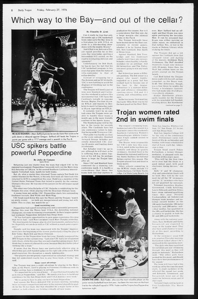 Daily Trojan, Vol. 68, No. 82, February 27, 1976