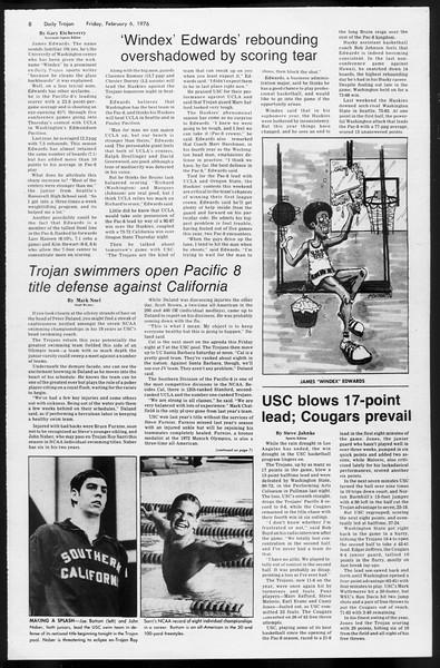 Daily Trojan, Vol. 68, No. 69, February 06, 1976