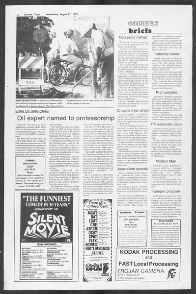 Summer Trojan, Vol. 69, No. 15, August 11, 1976