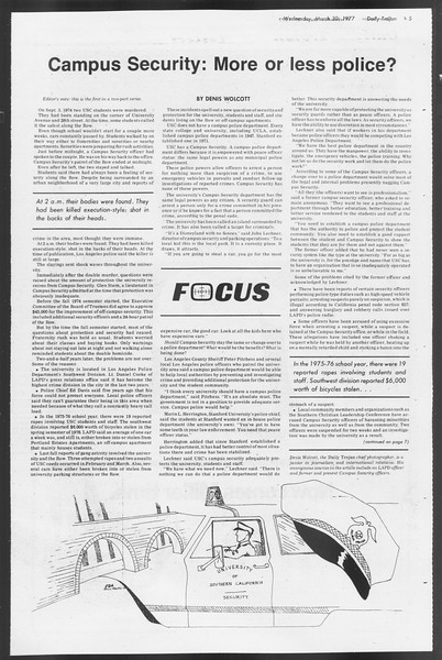 Daily Trojan, Vol. 71, No. 35, March 30, 1977