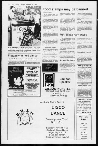 Daily Trojan, Vol. 68, No. 46, November 21, 1975