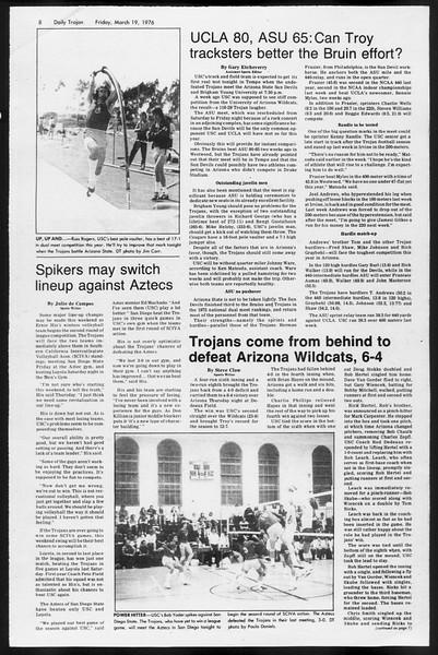 Daily Trojan, Vol. 68, No. 97, March 19, 1976