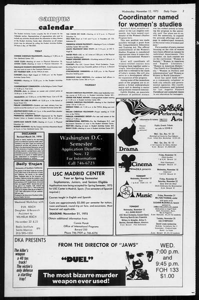 Daily Trojan, Vol. 68, No. 39, November 12, 1975