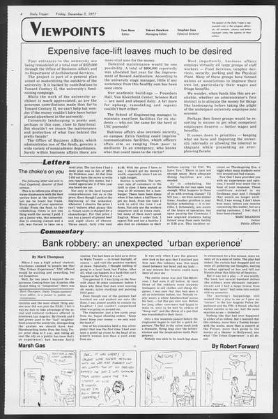 Daily Trojan, Vol. 72, No. 49, December 02, 1977