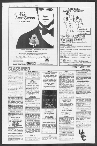 Daily Trojan, Vol. 70, No. 44, November 30, 1976