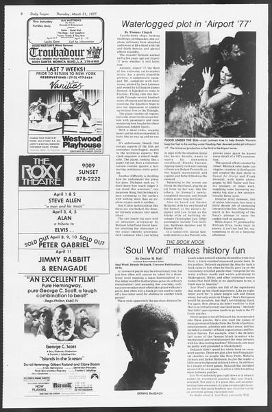 Daily Trojan, Vol. 71, No. 36, March 31, 1977