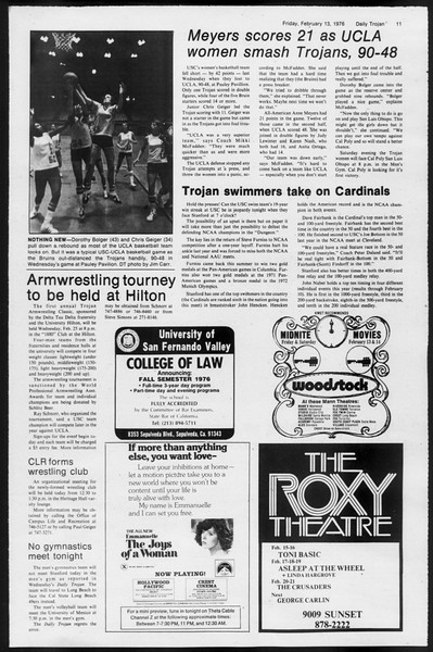 Daily Trojan, Vol. 68, No. 74, February 13, 1976