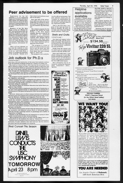 Daily Trojan, Vol. 68, No. 114, April 22, 1976