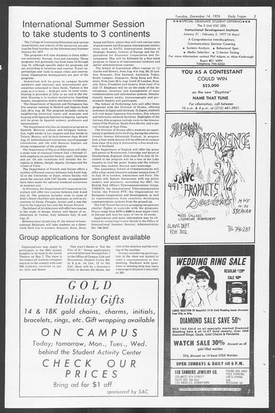 Daily Trojan, Vol. 70, No. 54, December 14, 1976