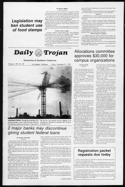 Daily Trojan, Vol. 68, No. 46, November 21, 1975