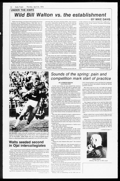 Daily Trojan, Vol. 67, No. 114, April 24, 1975