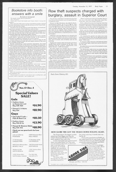 Daily Trojan, Vol. 71, No. 40, November 15, 1977